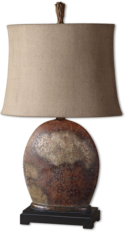 "30""h Yunu 1-Light Table Lamp Rusty Brown"