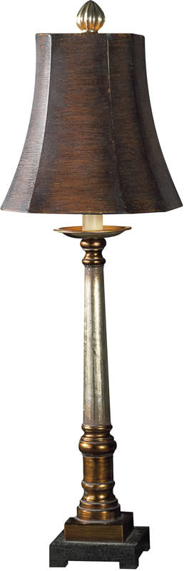 "33""H Trent Table Lamp Warm Bronze And Silver"