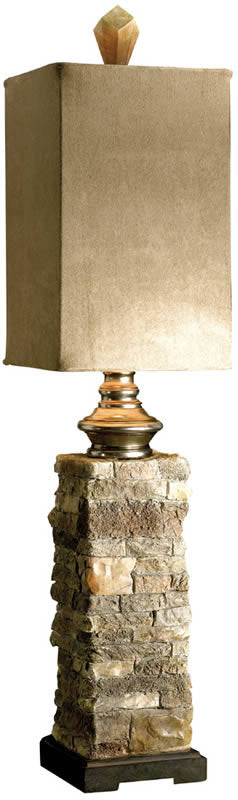 "30""H Andean 2-Way Table Lamp Ivory And Browns"