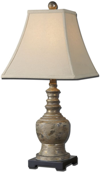 Uttermost Valtellina 1-Light Table Lamp Antiqued Taupe Gray Wash 29299