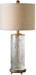 "31""h Tomi 1-Light Table Lamp Heavily Antiqued Gold"