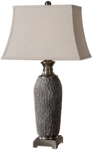 Uttermost 36 inchh Tricarico 1-Light Table Lamp Old Stone Bronze 26442