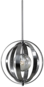 Trofarello Silver 1-Light Pendant Polished Nickel