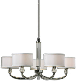 Uttermost Vanalen 5-Light Chandelier Polished Chrome 21260