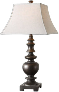 Uttermost 32 inchh Verrone 1-Light Table Lamp Dark Bronze 26830