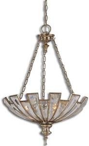Uttermost Vicentina 3-Light Pendant Silver Champagne Leaf 21989