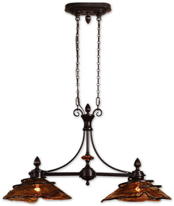 Uttermost Vitalia 2-Light Kitchen Island Light Oil Rubbed Bronze 21225