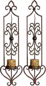 Uttermost Privas Wall Sconce Set of 2 Rust and Bronze 20987