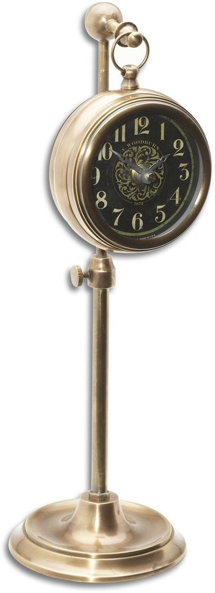 Woodburn Mantel Clock Brass