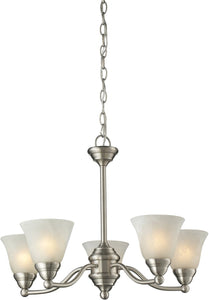 OPEN BOX Athena 5-Light Chandelier Brushed nickel