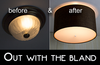 Get The Look - How to Install Moderne Ceiling Light Cover Conversion Kits