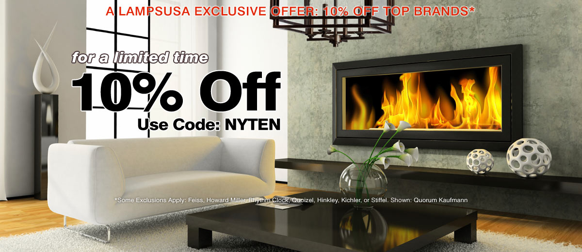 Take an Extra 10% Off Top Lighting Brands