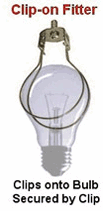 A clip-on regular bulb fitter