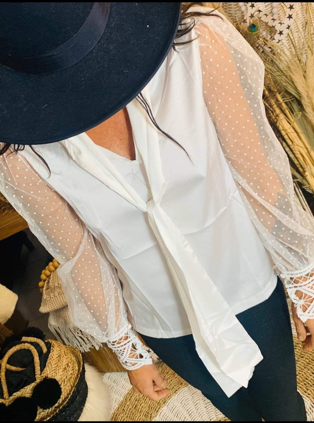 Blouse cravate Sand Coachella
