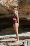 drifter bottoms - merlot & misty rose