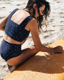 luna surf crop - navy star