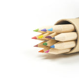 recycled coloured pencils
