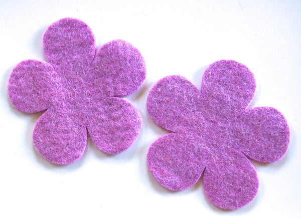 handmade small felt flower coasters