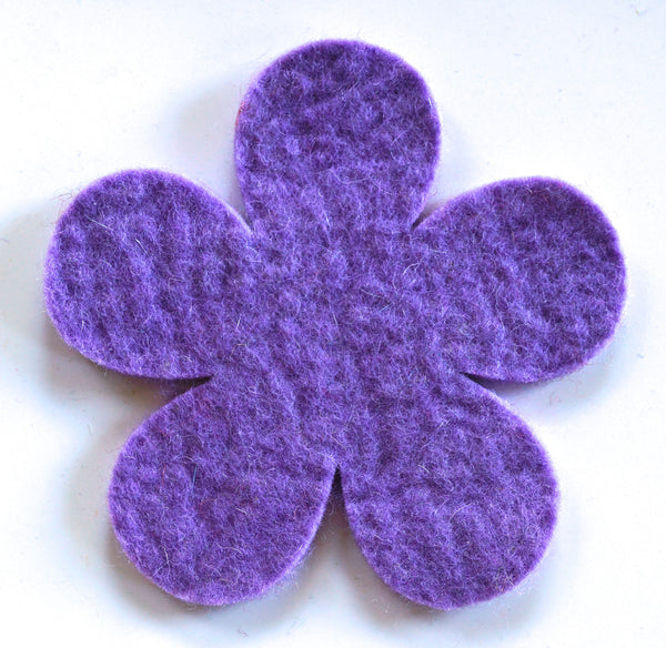 handmade large felt flower coaster
