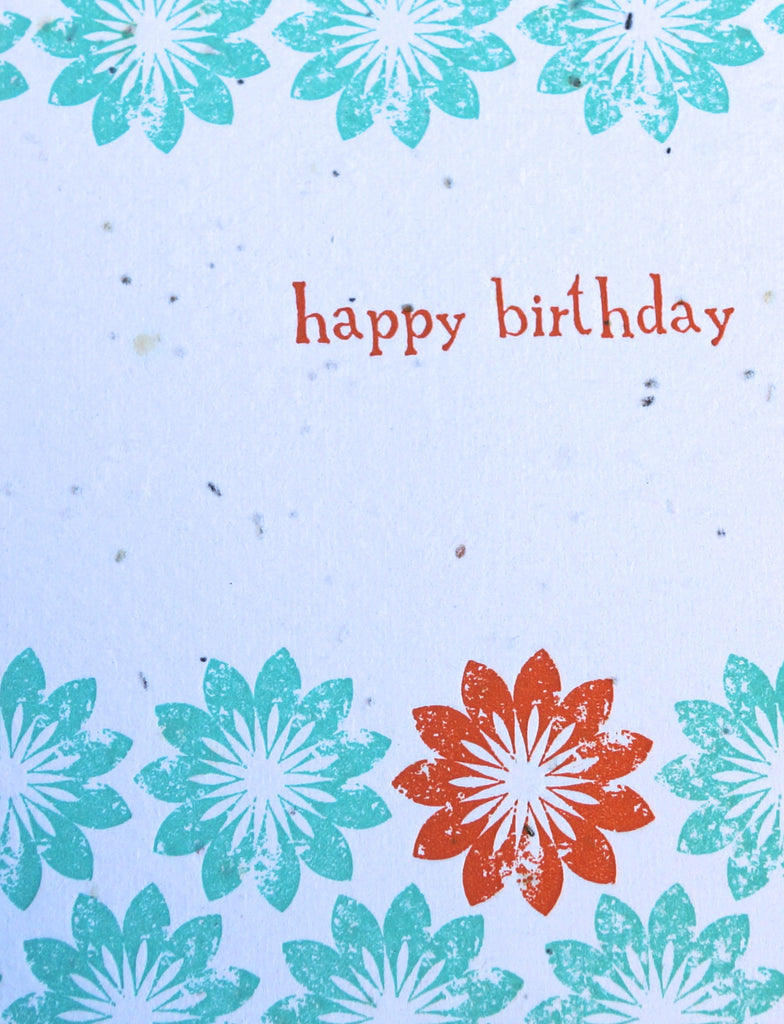 plantable wildflower greeting card - bday or blank
