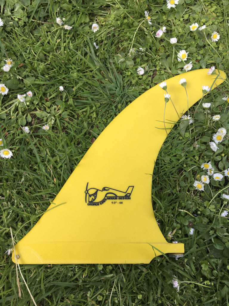 "9"" ryan lovelace hand foiled ""greenough"" 4a fin - yellow"