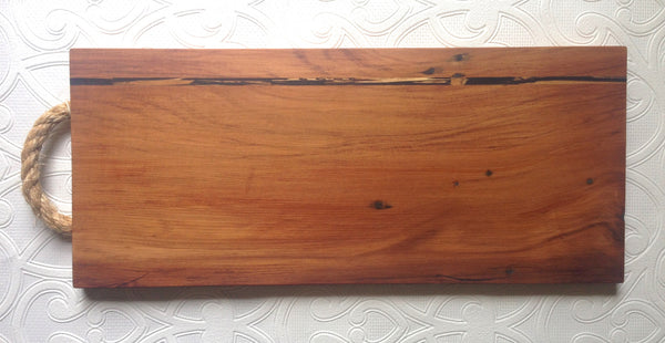 rimu serving/chopping board with punga inlay