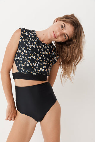drifter bottoms - reversible black & daisy
