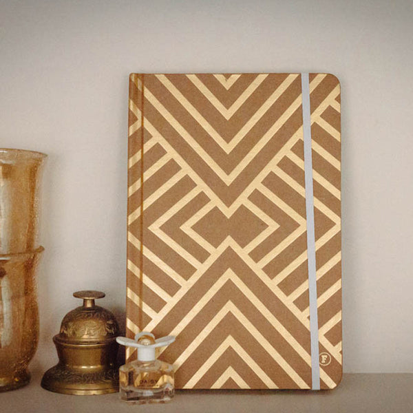 gold geometric notebook