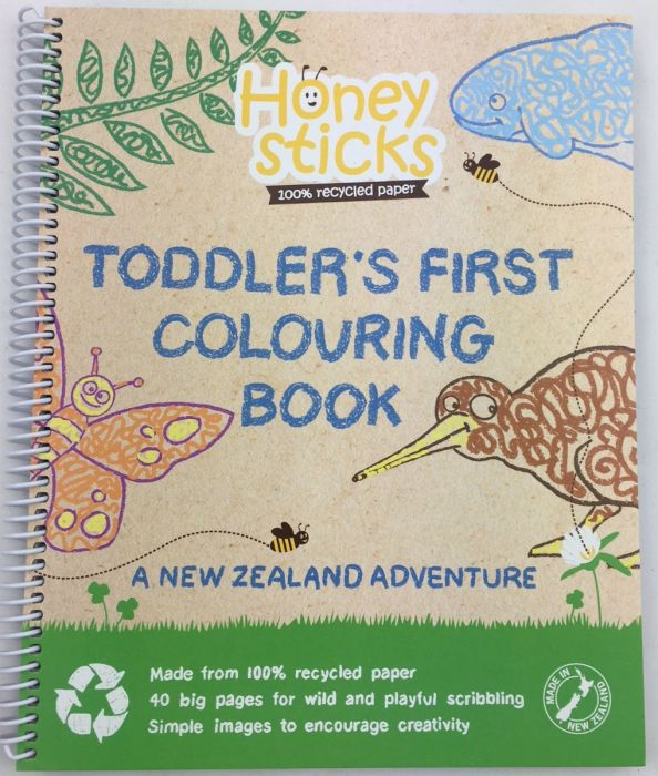 recycled paper colouring book (for toddlers)