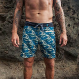 waves aqua burgh boardshorts