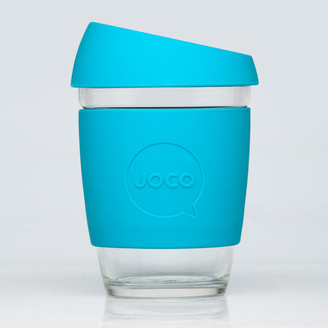 glass reusable coffee cups - 12oz