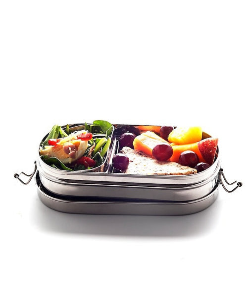 lunchbox - oval stainless steel