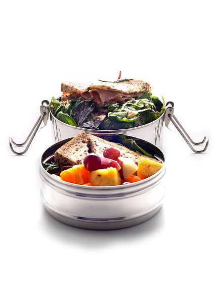 lunchbox - round stainless steel tiffin