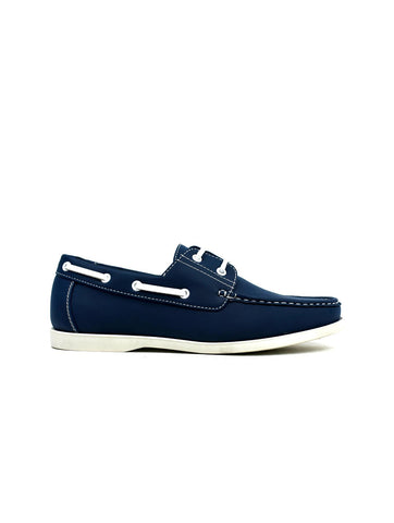 Lace Boat Shoes Navy - shop.livefree.co.uk