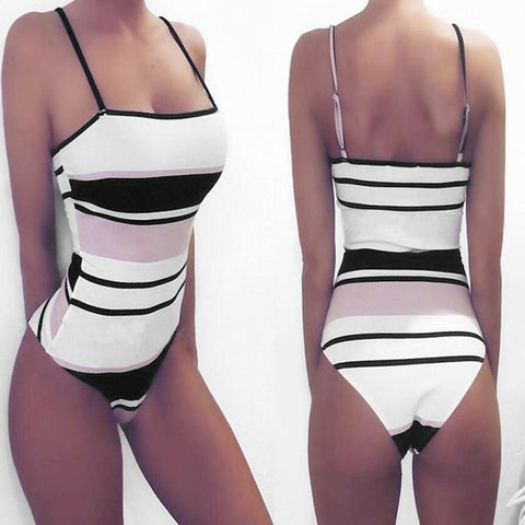 New Arrival Womens Swimsuit Stripe Print Bikinis - shop.livefree.co.uk