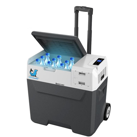 LionCooler X50A Portable Solar Fridge Freezer, 52 Quarts, (New Model) - shop.livefree.co.uk