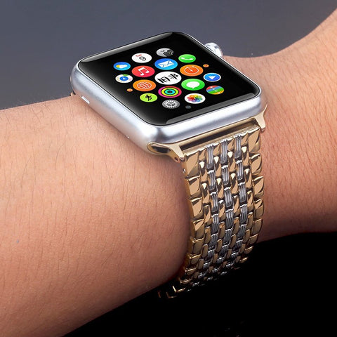 Apple Watch iWatch Strap Stainless Steel - shop.livefree.co.uk