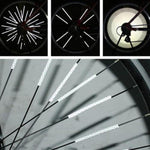 12Pcs Bicycle Wheel Rim Light Bike Reflective Strip - shop.livefree.co.uk