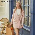 Vero Moda New Ins Style Women's H-shaped Lapel Double-breasted Suit Jacket - shop.livefree.co.uk