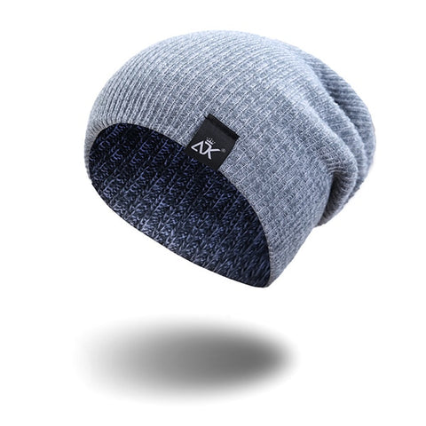 Mixed Color Baggy Beanies For Men Winter Cap Women's Outdoor Bonnet Skiing Hat Female Soft Acrylic Slouchy Knitted Hat For Boys - shop.livefree.co.uk