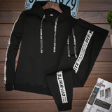Men Sets Tracksuit Hooded Coat+PantS Suits Sweatshirt Drawstring Outfit Sportswear Male Pullover 2 Piece Set Casual Sportsuit - shop.livefree.co.uk