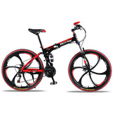"Wolf's Fang Folding Mountain bike with  21 speed & 26"" inch Wheels - shop.livefree.co.uk"