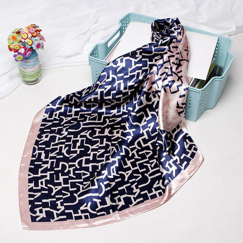 Square Scarves Women Chain Print Sunscreen Silk Scarf Female Satin Long dual-use Shawl Beach Towel Shawl Chennai children spend - shop.livefree.co.uk