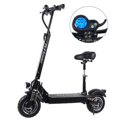 FLJ 2400W Adult Electric Scooter with seat foldable hoverboard fat tire electric kick scooter e scooter - shop.livefree.co.uk