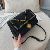 Small Solid Color Chain Scrub Leather Shoulder Bags For Women 2019 Luxury Quality Handbags Designer Crossbody Messenger Bag - shop.livefree.co.uk