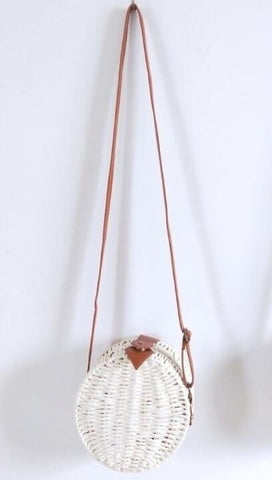 2019 summer women beach bohemian ratten bali bag quality paper rope knitting round bags circle beach bag - shop.livefree.co.uk