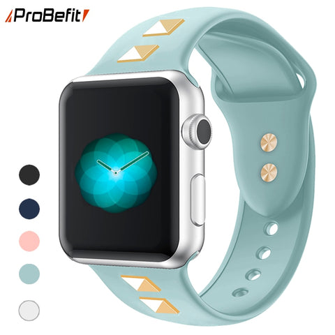 soft Silicone Sports Band for Apple Watch 5 4 3 2 - shop.livefree.co.uk