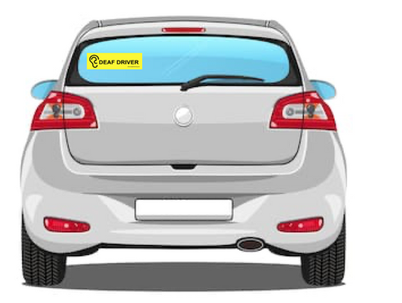 DEAF DRIVER Bumper Sticker