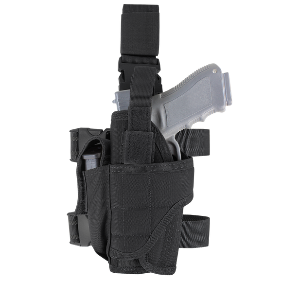 CONDOR TORNADO TACTICAL LEG HOLSTER - LEFT HAND - BLACK