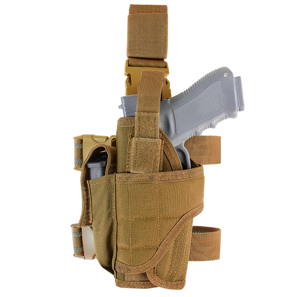 CONDOR TORNADO TACTICAL LEG HOLSTER - LEFT HAND - COYOTE